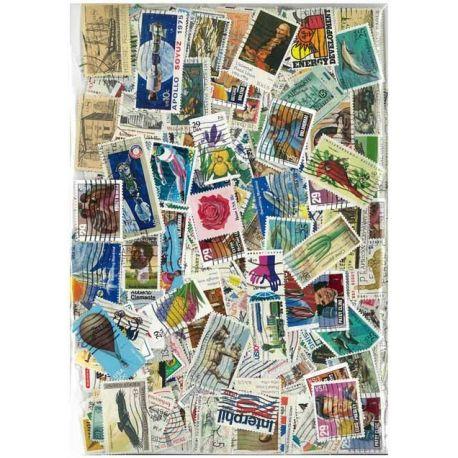 Collection de timbres Etats Unis oblitérés