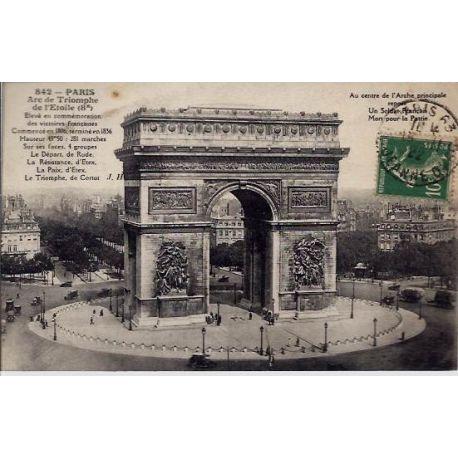 Carte postale 75 - Arc de Triomphede l 'Etoile