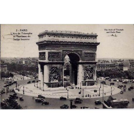 Carte postale 75 - Arce de Triomphe - Tombeau du Soldat Inconnu