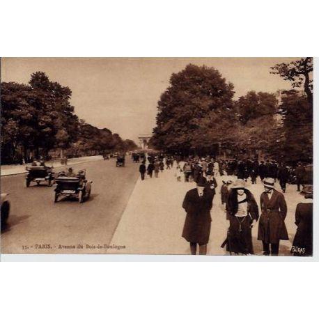 Carte postale 75 - AV du Bois de Boulogne