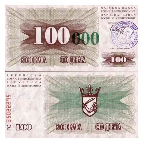 Bosnie - Pk N° 56 - Billet de 100 000 Dinara