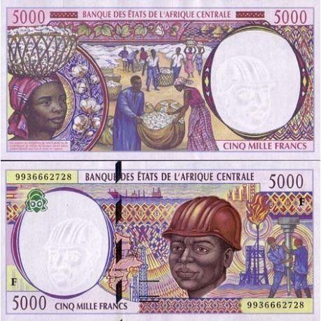 Afrique Centrale Centrafrique - Pk N° 304 - Billet de 5000 Francs