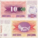 Schone Banknote Bosnien Pick Nummer 53 - 10000 Dinara 1993