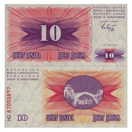 Bosnie - Pk N° 10 - Billet de 10 Dinara