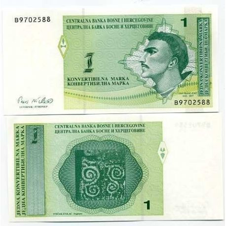 Billets de collection Billet de banque Bosnie Pk N° 59 - 1 Dinar Billets de Bosnie 6,00 €