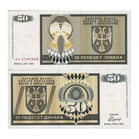 Billets de collection Billet de collection Bosnie Pk N° 134 - 50 Dinara Billets de Bosnie 2,50 €
