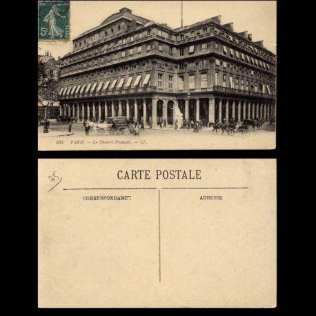 Carte postale 75 - Paris - LE theatre francais - Attelages