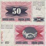 Schone Banknote Bosnien Pick Nummer 12 - 50 Dinara 1992