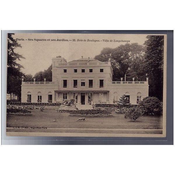 75 - Paris - Ses squares et ses jardins - Bois de Boulogne - Villa de  Longcha