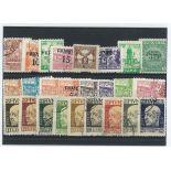 Fiume-Sammlung gestempelter Briefmarken