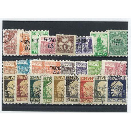 Fiume - 10 verschiedene Briefmarken