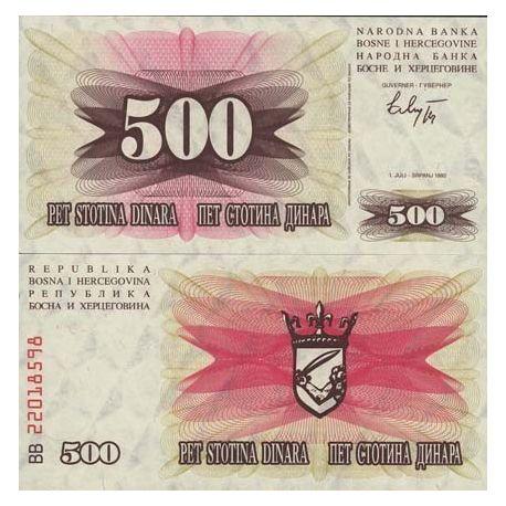 Billets de collection Billets collection Bosnie Pk N° 14 - 500 Dinara Billets de Bosnie 2,00 €