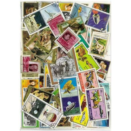 Fujeira - 100 different stamps