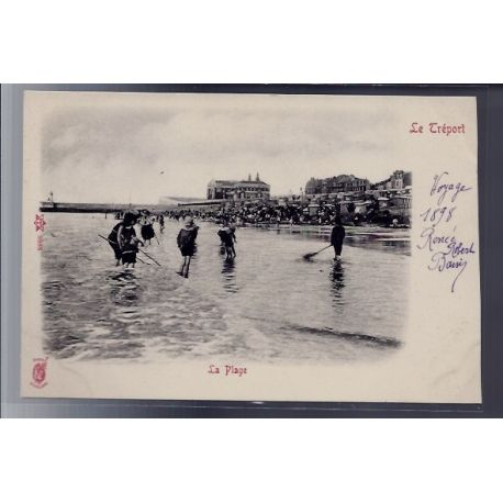 76 - Le Treport - la plage - Non voyage - Dos non divise
