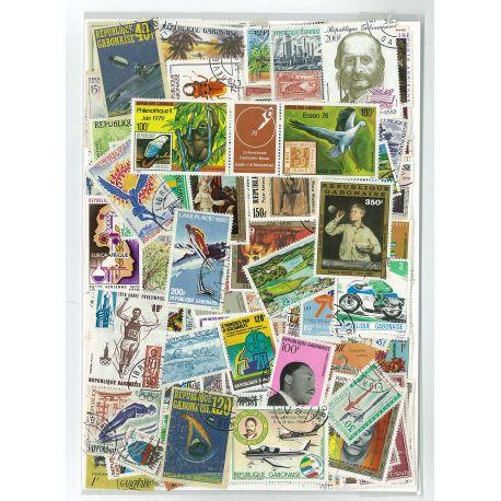 Gabon - 25 timbres différents