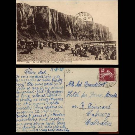 Carte postale 76 - Le Treport - La plage et les falaises - II