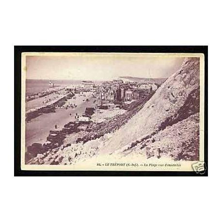 Carte postale 76 - Le Treport - La plage vue d'ensemble