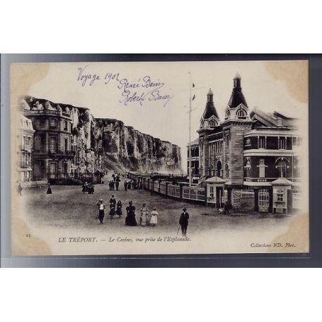 76 - Le Treport - Le casino - vue prise de l' esplanade - Non voyage - Dos