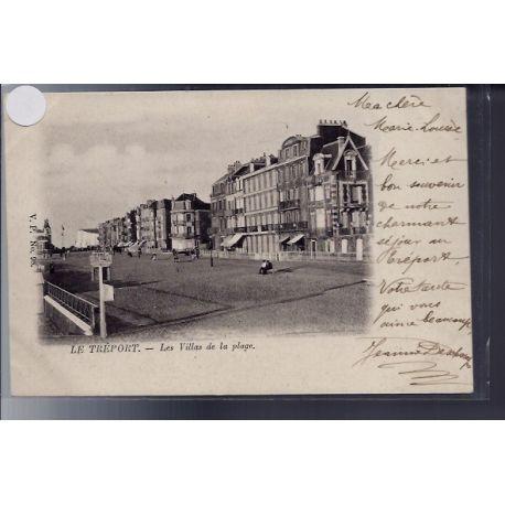 Carte postale 76 - Le Treport - Les villas de la plage - Non voyage - Dos non divise