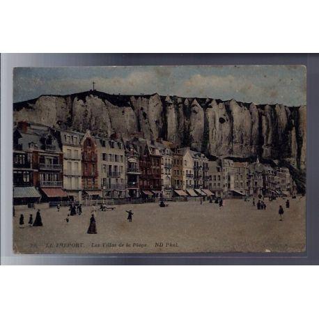 Carte postale 76 - Le Treport - les villas de la plage - Voyage - Dos divise