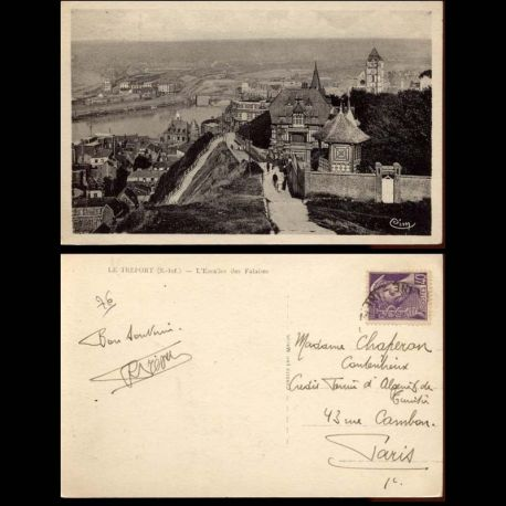 Carte postale 76 - Le Treport - L'Escalier des falaises