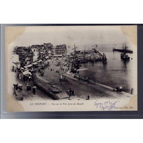 Carte postale 76 - Le Treport - Vue sur le Port prise du Musoir - Non voyage - Dos non di