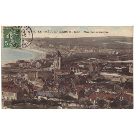 Carte postale 76 - Le Treport-Mers - Vue panoramique