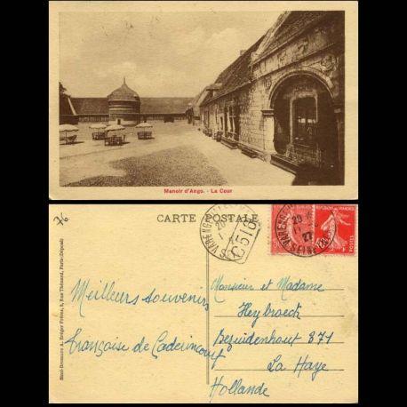 Carte postale 76 - Manoir d'Ango - La cour