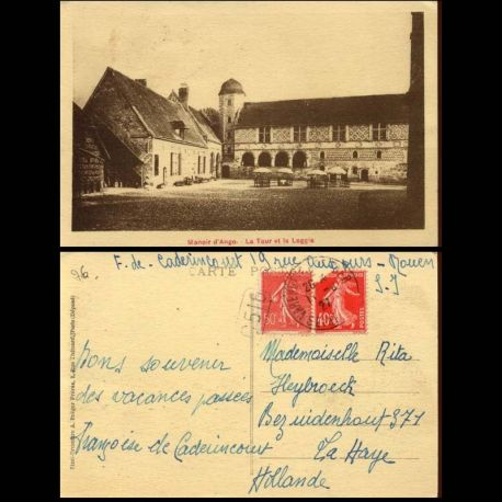 Carte postale 76 - Manoir d'Ango - La tour et la Loggia