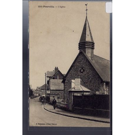 Carte postale 76 - Pourville - L' eglise - Voyage - Dos divise