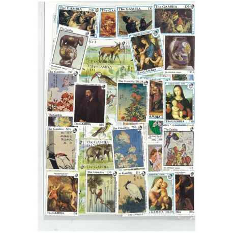 Gambia - 10 verschiedene Briefmarken