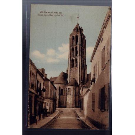 77 - Chateau-Landon - Eglise Notre-Dame cote Est - Non voyage - Dos divise