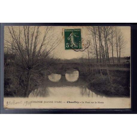 77 - Chauffry - Colonie Jeanne d' Arc - le Pont sur le Morin - Voyage - Dos