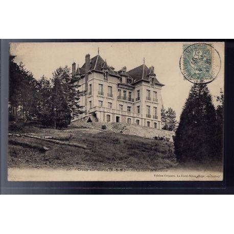 77 - Crouy-sur-Ourcq - le chateau de Bellevue - Voyage - Dos divise