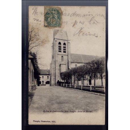 77 - Eglise de Fontenailles pres Nangis - Voyage - Dos non divise