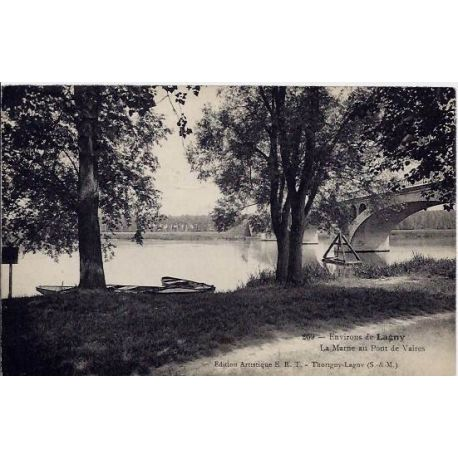 77 - Environs de Lagny - La Marne au pont de Vaires - Voyage - Dos divise