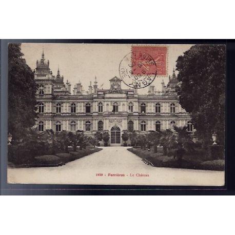 77 - Ferrieres - le chateau - Voyage - Dos divise