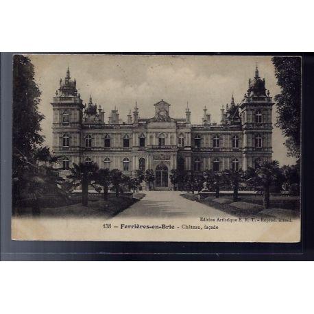77 - Ferrieres-en-Brie - Chateau- facade - Voyage - Dos divise