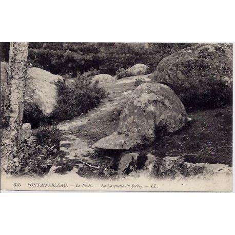 77 - Fontainebleau - La foret - La casquette du Jockey - Non voyage - Dos divi