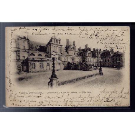 77 - Fontainebleau - le Palais - facade sur la cour des Adieux - Voyage - D