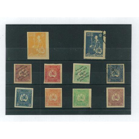 Georgien - 10 verschiedene Briefmarken
