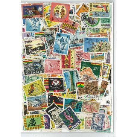 Collection de timbres Ghana & Cote De L Or oblitérés