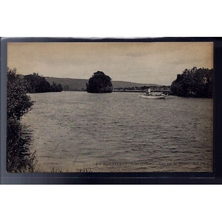 Carte postale 78 - Bonnieres - vue sur la Seine - Non voyage - Dos divise