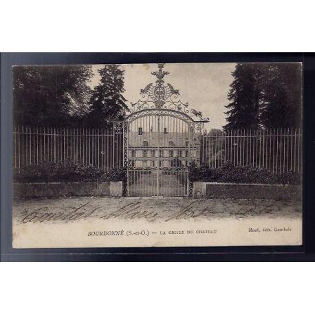 Carte postale 78 - Bourdonne - la grille du chateau - Voyage - Dos non divise