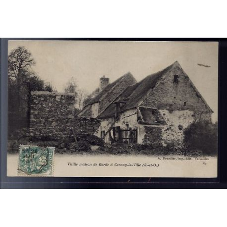 Carte postale 78 - Cernay-la-Ville - Vieille maison de garde - Voyage - Dos non divise