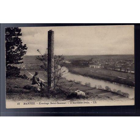 Carte postale 78 - Mantes - Ermitage Saint-Sauveur - l'ancienne Croix - Non voyage - Dos