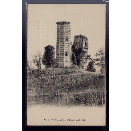 Carte postale 78 - Montfort-L' Amaury - les Tours - Non voyage - Dos divise