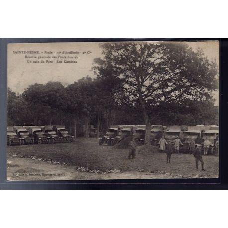 Carte postale 78 - Sainte-Mesme - Ecole 13e d' Artillerie 2 Cie - reserve generale des p