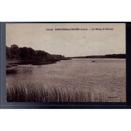 Carte postale 78 - Saint-Leger-en-Yvelines - les etangs de Hollande - Voyage - Dos divis