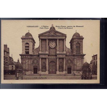 Carte postale 78 - Versailles - L' eglise Notre-Dame - Oeuvre de Mansard - Non voyage -